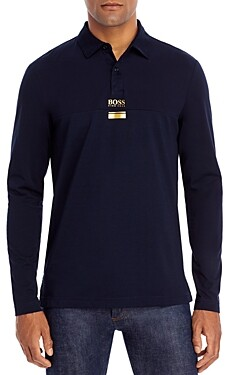 HUGO BOSS Plisy Long Sleeve Performance Polo Shirt