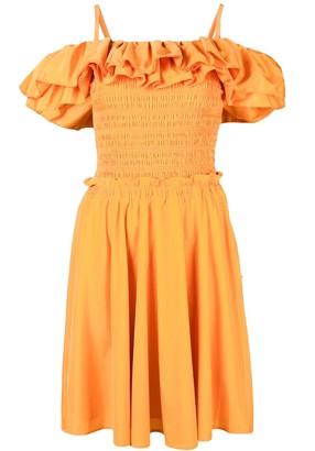 Nicholas frill layered dress