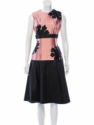 Alexander McQueen Silk Sleeveless Midi Dress w/ Tags Mauve