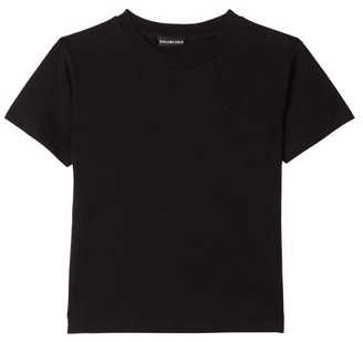 Balenciaga Kids Unisex Cotton-jersey T-shirt - Black