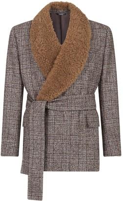 Dolce & Gabbana Double-Breasted Glen Plaid Jacket