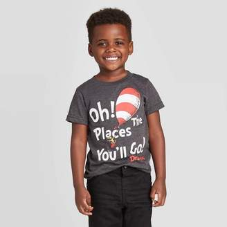 Dr. Seuss Toddler Boys' Oh The Places You'll Go T-Shirt - Charcoal
