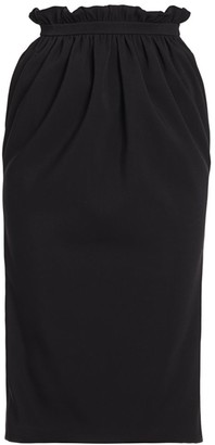 Versace Paperbag Waist Silk-Blend Midi Skirt