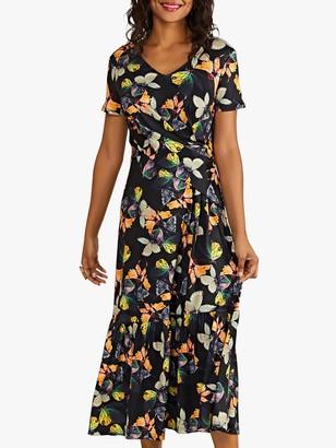Yumi Butterfly Midi Dress, Black