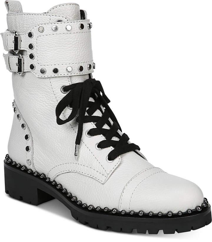 e3fbb1ee4f3 Jennifer Studded Combat Boots Women Shoes