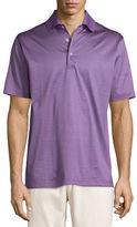 Peter Millar Striped Lisle Knit Polo Shirt