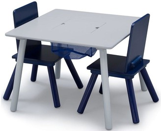 Storage Table And Chair Set- Grey/blue
