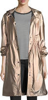 Emporio Armani Snap-Front Hooded Anorak Coat