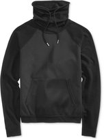 GUESS Men's Mix-Media Funnel-Neck Sweatshirt