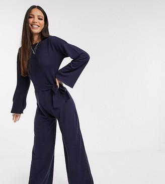 Asos Tall ASOS DESIGN Tall lounge tie waist knitted jumpsuit