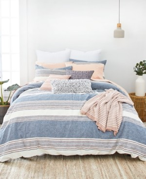 Splendid Tuscan Stripe King Duvet Cover Set Bedding