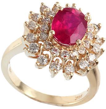 EFFY Royalty 14Kt. Yellow Gold Ruby & Diamond Ring