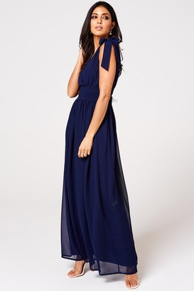 Iclothing Rock n Roll Bride Aries Navy Plunge Maxi Dress