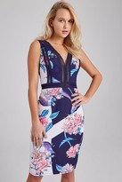 Little Mistress Maeve Floral-Print Bodycon Dress