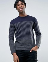 French Connection Stripe Knitted Sweater
