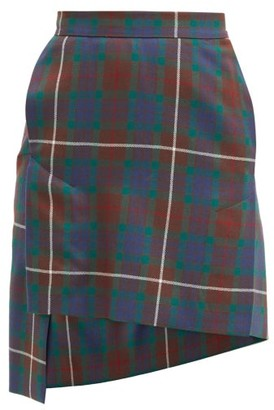 Vivienne Westwood Case Tartan Wool-twill Mini Skirt - Brown Multi