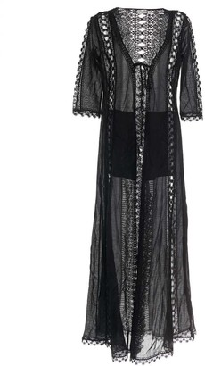 Charo Ruiz Ibiza Ali Fitted Lace Robe