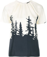 DSQUARED2 forest print blouse