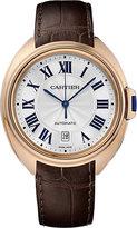 Clé De Cartier 40mm 18ct Rose-gold And Leather Watch