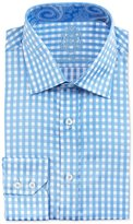 English Laundry Gingham Cotton Dress Shirt, Blue/White