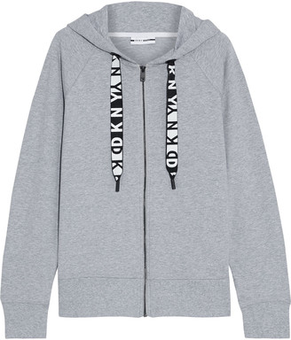 DKNY Melange French Cotton-blend Terry Hoodie