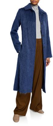 Vince Belted Wool-Blend Slim Coat