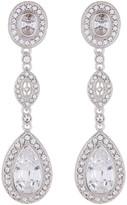 Nadri Framed CZ Marquis Drop Earrings