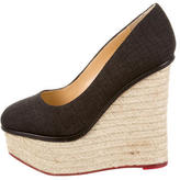 Charlotte Olympia Canvas Platform Wedges