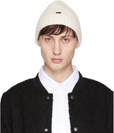Saturdays NYC White Waffle Knit Beanie