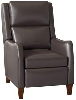 Ash Bradington Young Peyson Leather Power Recliner Bradington-Young Body Fabric: Empyrean Ash, Cushion Fill: Spring Down, Leg Color: Espresso, Reclining Type: Power Button