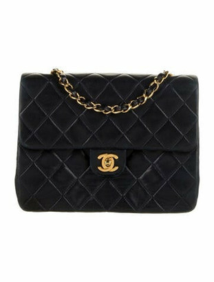 Chanel Vintage Classic Mini Square Flap Bag gold