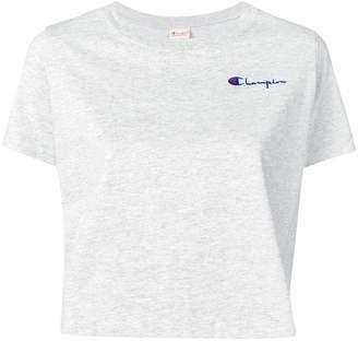 Champion logo embroidered crop T-shirt