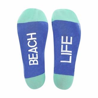 Pavilion Gift Company Beach Life Crab Coral Patterned-Medium/Large Unisex Crew Cut Socks