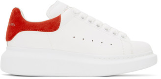 Alexander McQueen White and Red Oversized Sneakers