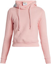 Vetements X Champion hooded cotton-blend sweatshirt