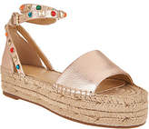 Marc Fisher Leather Espadrilles with AnkleStrap - Vajen