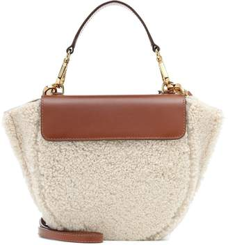 Wandler Hortensia Mini shearling shoulder bag