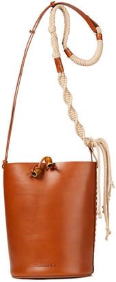 Nanushka Leather Bucket Bag