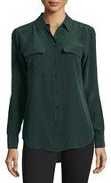 Equipment Slim Signature Long-Sleeve Shirt, Scarab