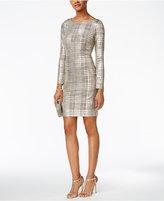 Jessica Howard Petite Metallic Plaid Sheath Dress
