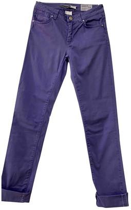 Sportmax Purple Cotton - elasthane Jeans for Women