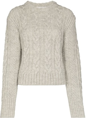Cecilie Bahnsen Cable Knitted Open Back Jumper