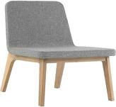 Houseology addinterior LEAN Chair Grey - Natural Oak Legs & Dark Brown Cushion