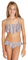 Billabong Girl's Two-Piece Ruffle Swimsuit