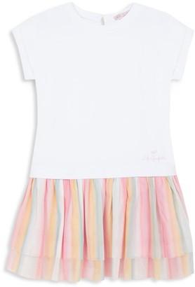 Lili Gaufrette Little Girl's Rainbow Pleated Shirt Dress