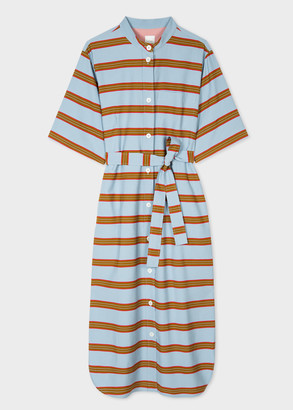 Paul Smith Women's Blue Stripe Shirt Dress