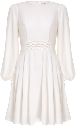 Zimmermann Crepe Lattice Mini Dress