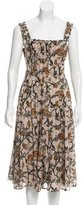 Suno Floral Pleated Dress