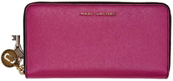 Marc Jacobs Pink Metallic Standard Continental Wallet