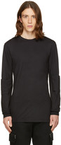 Helmut Lang Black Elbow Patch T-shirt